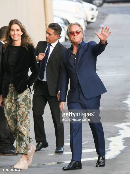 Don Johnson and his wife Kelley Phleger are seen arriving at 'Jimmy Kimmel Live' on November 13 2019 in Los Angeles California