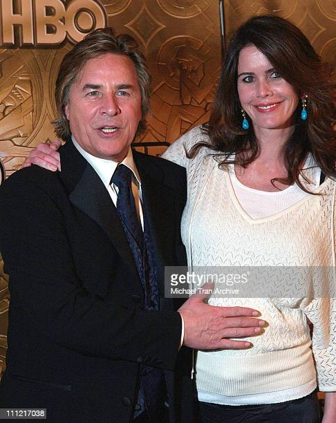 Don Johnson and Kelley Johnson during HBO 2006 Golden Globes After Party Arrivals at Beverly Hills Hilton in Beverly Hills California United States