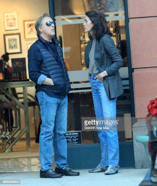 Don Johnson and Kelley Phleger are seen on December 19 2017 in Los Angeles CA