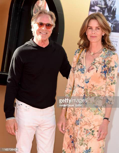 Don Johnson and Kelley Phleger attend Sony Pictures' Once Upon a Time in Hollywood Los Angeles Premiere on July 22 2019 in Hollywood California