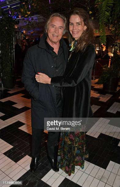 Don Johnson and Kelley Phleger attend the European Premiere after party for Knives Out during the 63rd BFI London Film Festival at Sushi Samba Covent...