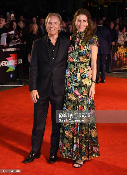 Don Johnson and Kelley Phleger attends the Knives Out European Premiere during the 63rd BFI London Film Festival at the Odeon Luxe Leicester Square...