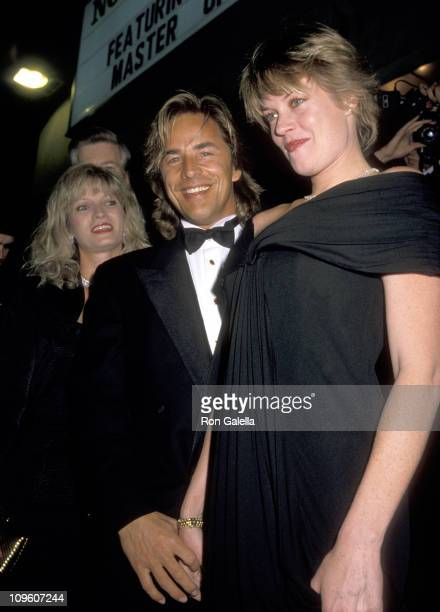 Don Johnson and Melanie Griffith during Dedication of the Norman J Pattiz Concert Hall February 21 1989 at Hamilton High School of Music in Los...