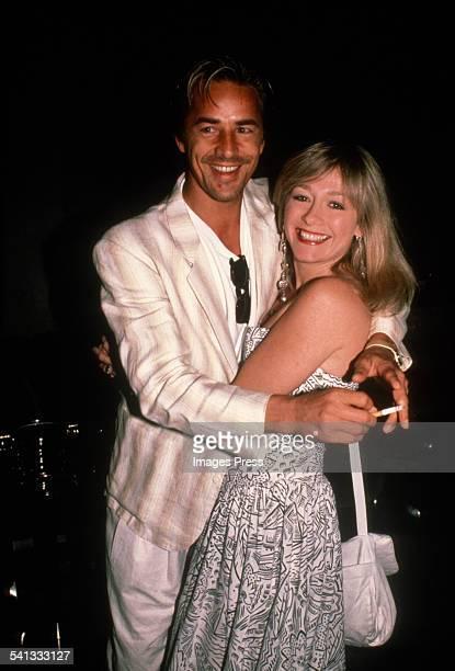 Don Johnson and Patti D'Arbanville circa 1985 in New York City