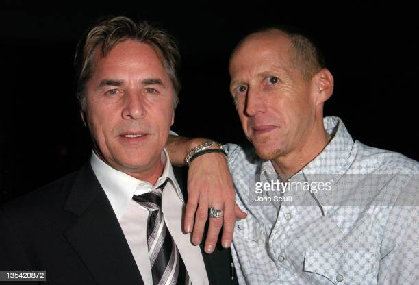 Don Johnson and Rick Calamaro during The Grand Opening of The Lincoln Steakhouse at The Lincoln in Santa Monica California United States