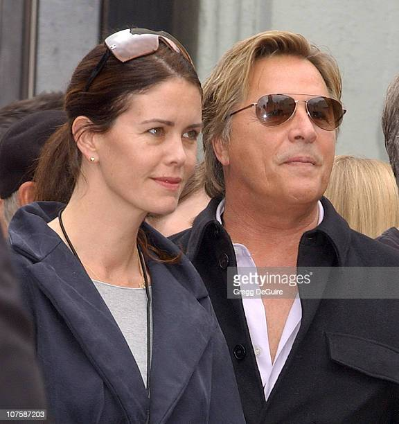 Don Johnson and wife Kelley during Bruce Willis Honored With a Star on The Hollywood Walk of Fame at Hollywood Blvd in Hollywood California United...