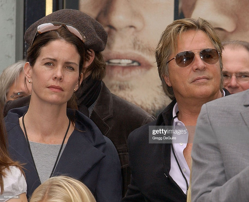 Don Johnson and wife Kelley (left) during Bruce Willis Honored With a Star on The Hollywood Walk of Fame at Hollywood Blvd in Hollywood, California, United States.