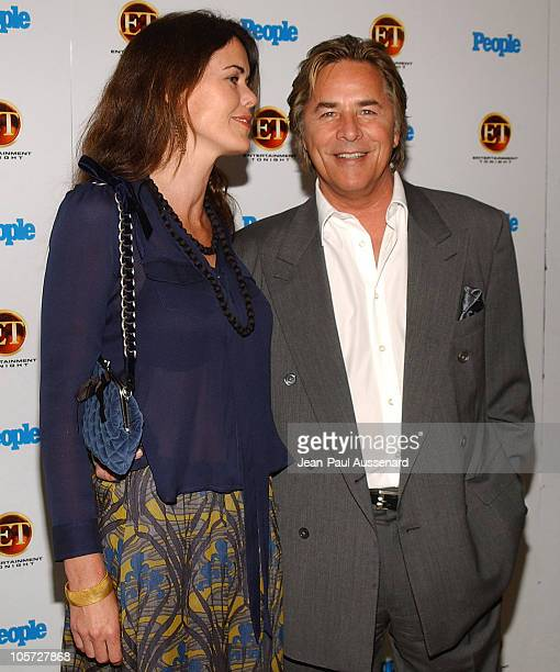 Don Johnson and wife Kelley during Entertainment Tonight and People Magazine Celebrate The 57th Annual Emmy Awards at Mondrian in West Hollywood...