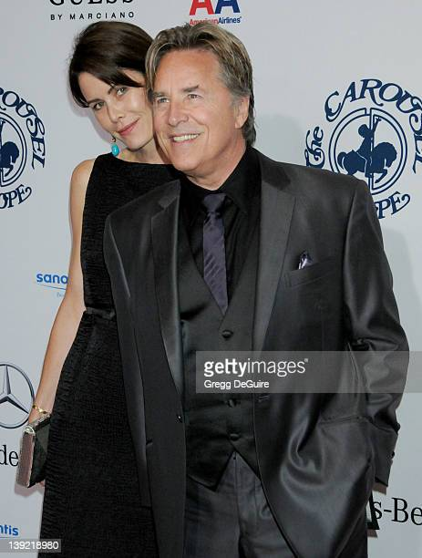 Don Johnson and wife Kelley Phleger arrive at the 32nd Carousel Of Hope Ball to Benefit The Barbara Davis Center For Childhood Diabetes held at the...
