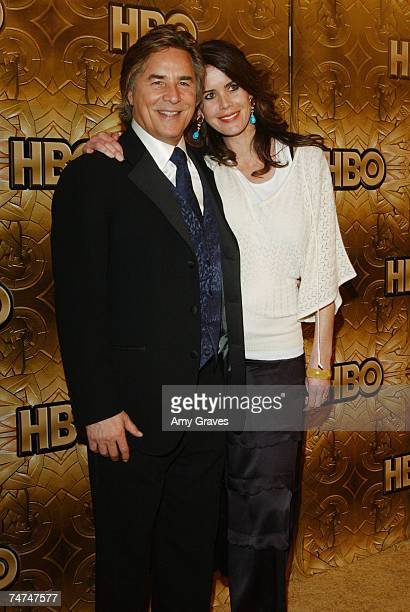 Don Johnson and wife Kelley Phleger at the The Beverly Hilton in Beverly Hills, California
