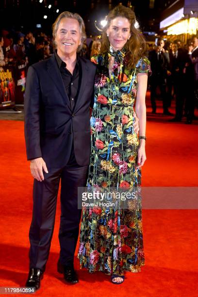Don Johnson and wife Kelley Phleger attend the Knives Out European Premiere during the 63rd BFI London Film Festival at the Odeon Luxe Leicester...