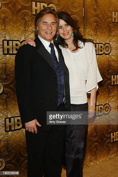 Don Johnson and wife Kelley Phleger during HBO 2006 Golden Globes After Party at The Beverly Hilton in Beverly Hills, California, United States.
