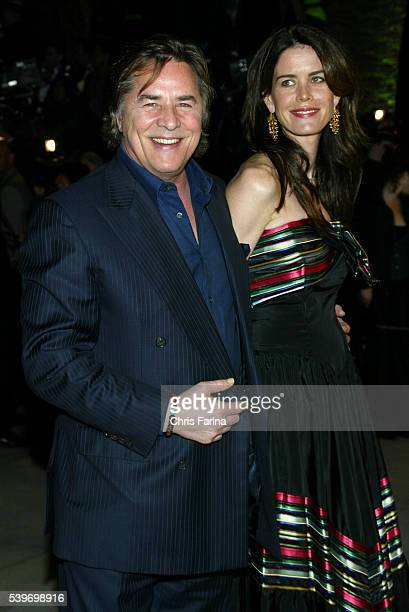 Don Johnson and wife Kelly Johnson arrive at the Vanity Fair Academy Awards® party at Mortons restaurant.