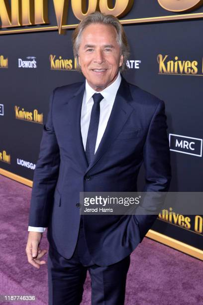Don Johnson arrives at the Premiere of Lionsgate's 'Knives Out' at Regency Village Theatre on November 14, 2019 in Westwood, California.