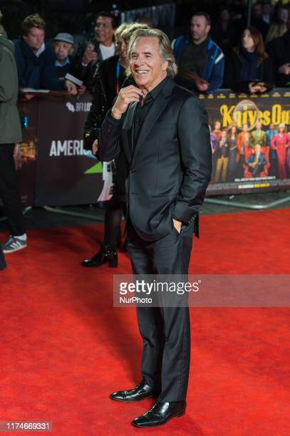 Don Johnson attends the European film premiere of 'Knives Out' at Odeon Luxe, Leicester Square during the 63rd BFI London Film Festival American...