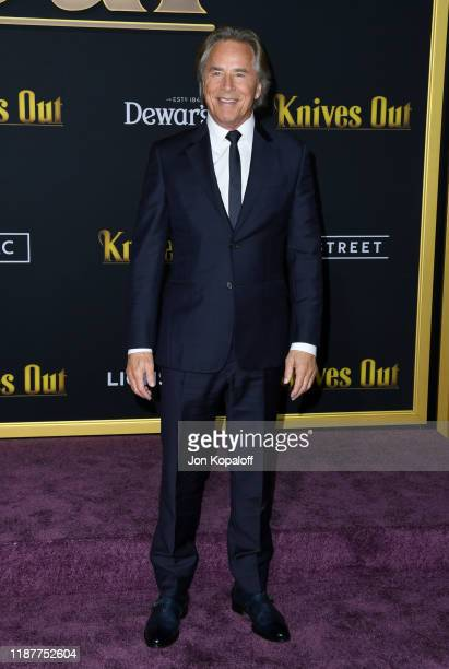 Don Johnson attends the premiere of Lionsgate's Knives Out at Regency Village Theatre on November 14 2019 in Westwood California