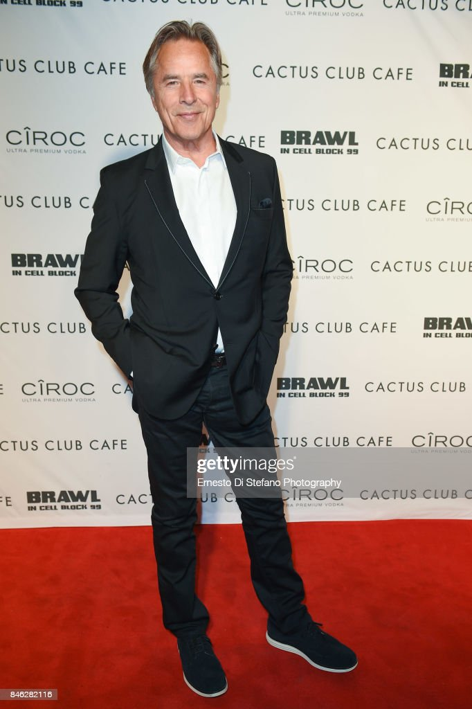 Don Johnson 'Brawl In Cell Block 99' Premiere Party Hosted By Cactus Club Cafe At First Canadian Place In partnership With CIROC at First Canadian Place on September 12, 2017 in Toronto, Canada.