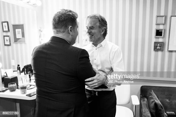 Don Johnson chats in the green room with James Corden during 'The Late Late Show with James Corden' Thursday September 28 2017 On The CBS Television...