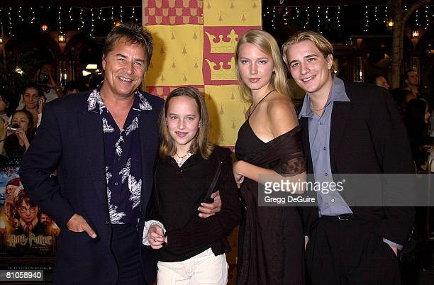 Don Johnson, daughter Dakota, son Jesse and girlfriend Anna