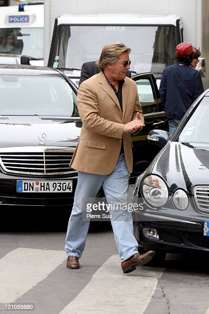 Don Johnson during Don Johnson Sighting in Paris October 2 2006 at Outside Hermes in Paris France