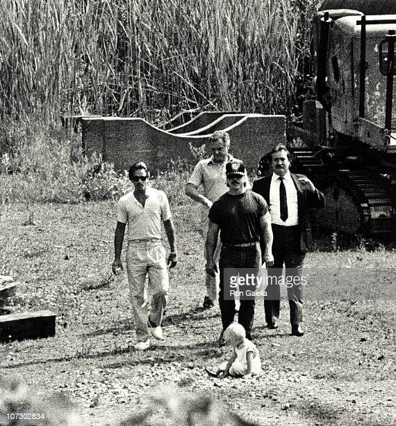 Don Johnson Jesse Johnson and security during Don Johnson Sighted at Bear Mountain State Park June 18 1985 at Bear Mountain State Park in New York...