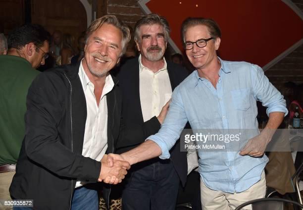 Don Johnson Tom Freston and Kyle Maclachlan attend Apollo in the Hamptons at The Creeks on August 12 2017 in East Hampton New York