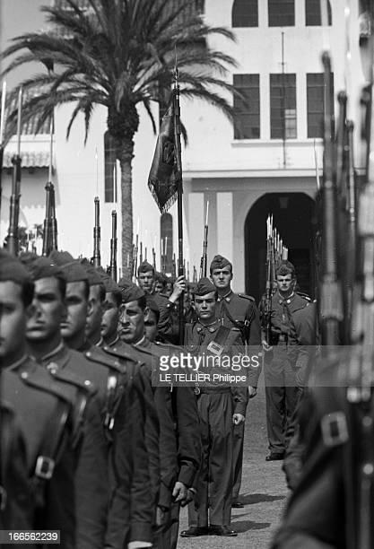 Don Juan Carlos Of Spain In The Army. En Espagne, lors du défilé des cadets de l'école militaire d'aviation de San Javier près d'Alicante, le prince...