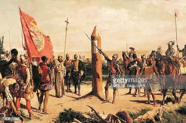 Don Juan de Garay founding Buenos Aires in 1580 by an unknown 19thcentury artist Argentina 16th century