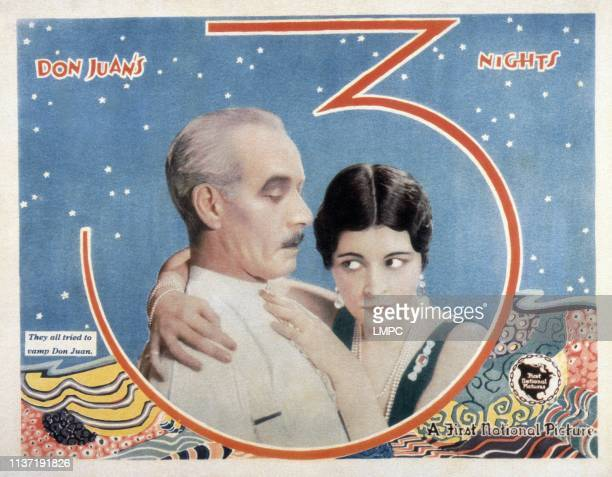 Don Juan's 3 Nights poster from left Lewis Stone Shirley Mason 1926