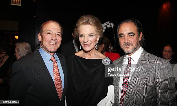Don Kaul, Princess Michael of Kent and Mathias Rastorfer attend a private collector dinner in honor of HRH Princess Michael of Kent and Galerie...