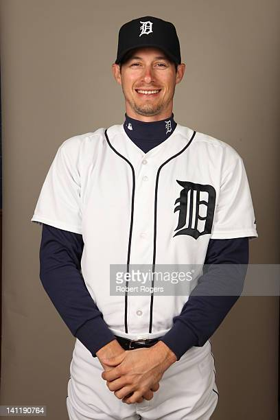 Don Kelly of the Detroit Tigers poses during Photo Day on Tuesday February 28 2012 at Joker Marchant Stadium in Lakeland Florida