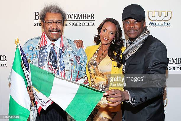 Don King actress Vivica A Fox and director Jeta Amata attend the 'Black November' film screening at The Library of Congress on February 29 2012 in...