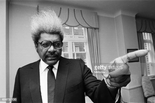 Don King American boxing promoter in London July 1986