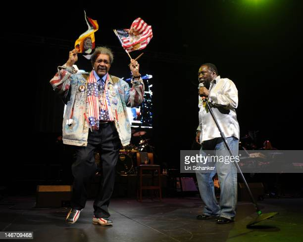 Don King and Eddie Levert perform during the Don King Tribute at Seminole Hard Rock Hotel on June 22 2012 in Hollywood Florida