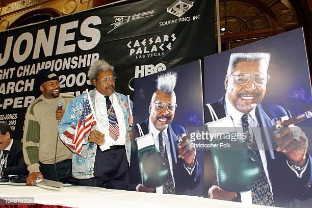 Don King and Roy Jones, Jr. During John Ruiz vs Roy Jones, Jr. Press Conference at Millennium Biltmore Hotel in Los Angeles, CA, United States.