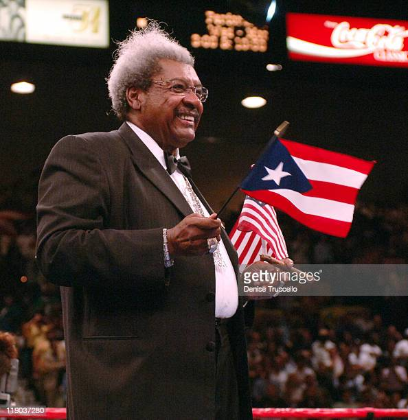 Don King at the MGM Grand on Saturday May 14 2005 Wright won via 12 round unanimous decision