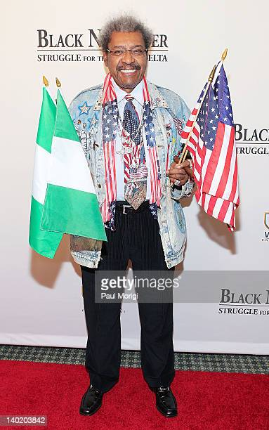 Don King attends the 'Black November' film screening at The Library of Congress on February 29 2012 in Washington DC