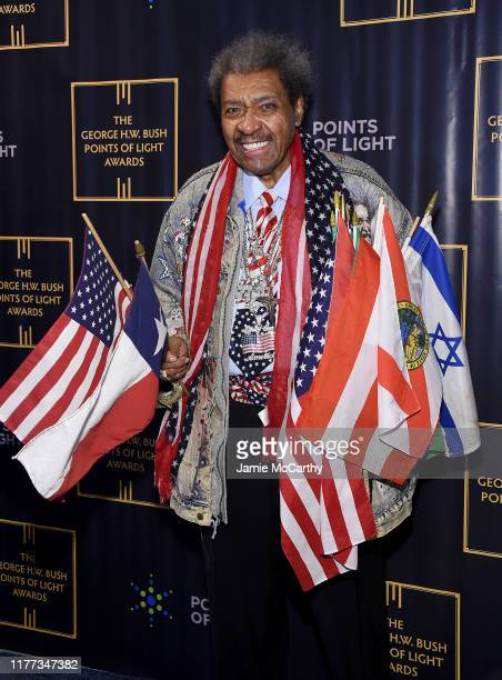 Don King attends The George HW Bush Points Of Light Awards Gala at Intrepid SeaAirSpace Museum on September 26 2019 in New York City