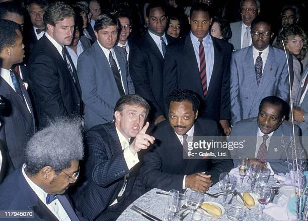 Don King Donald Trump Jesse Jackson John H Johnson and security