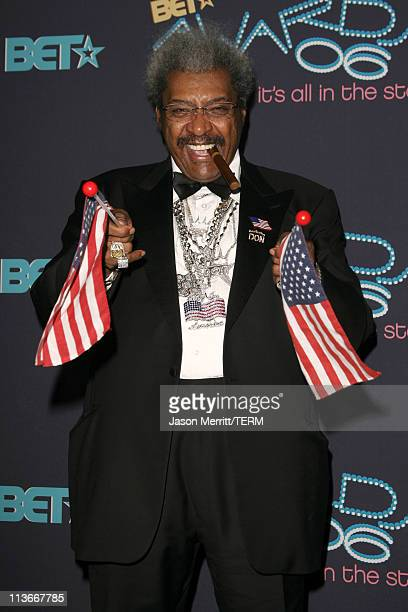 Don King during 2006 BET Awards Arrivals at The Shrine in Los Angeles California United States
