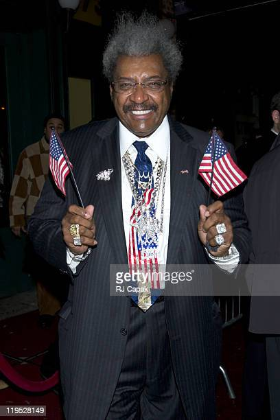 """Don King during Don King Hosts a Coronation Party for Zab """"Super"""" Judah, the New World Welterweight Champion at Pink Elephant in New York City, New..."""