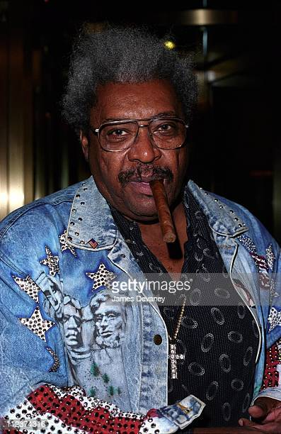 Don King during Don King Visits MTV's 'TRL' September 25 2001 at MTV Studios Times Square in New York City New York United States