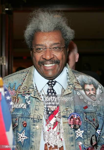 Don King during Felix Tito Trinidad vs Winky Wright Press Confrence at Century Plaza Hotel in Los Angeles California United States