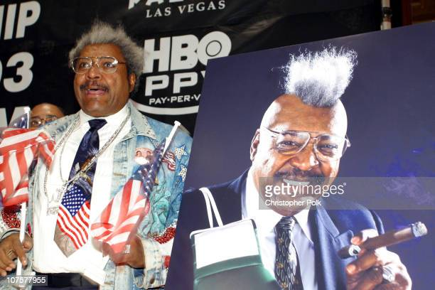 Don King during John Ruiz vs Roy Jones Jr Press Conference at Millennium Biltmore Hotel in Los Angeles CA United States