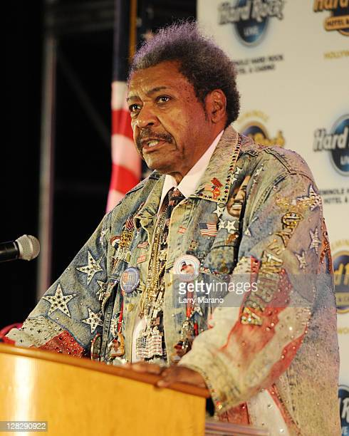Don King holds a press conference to promote Viva Don King at Seminole Hard Rock Hotel on October 5 2011 in Hollywood Florida