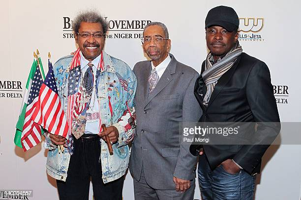 Don King Rep Bobby Rush and Director Jeta Amata attend the 'Black November' film screening at The Library of Congress on February 29 2012 in...