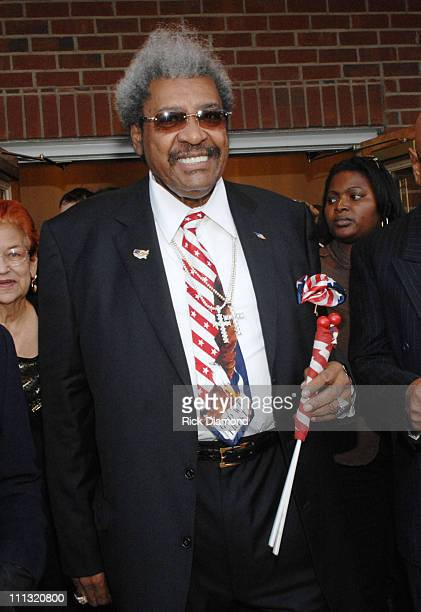 Don King showing support during a private church service for the late James Brown at the Carpenterville Church in North Augusta South Carolina on...