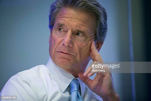 Don Knauss chief executive officer of Clorox Co pauses during an interview in New York US on Tuesday Nov 11 2014 Clorox Co's sales of disinfectant...