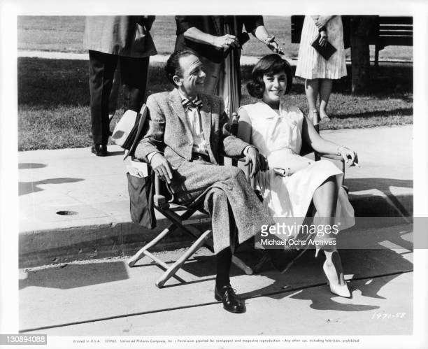 Don Knotts and Joan Staley relaxing in between scenes of the film 'The Ghost And Mr Chicken' 1966