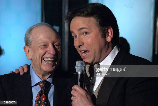 Don Knotts and John Ritter during The TV Land Awards Backstage at Hollywood Palladium in Hollywood CA United States